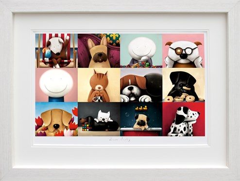 Zoom Party by Doug Hyde - Framed Limited Edition on Paper