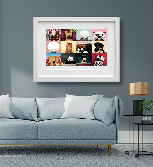 Zoom Party by Doug Hyde - Limited Edition on Paper wall setting